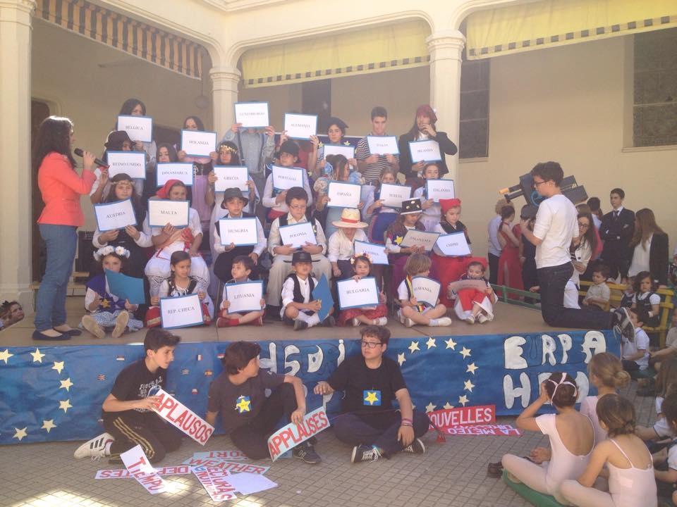 Día de Europa 2015 en Colegio El Calasancio de Córdoba, 7 de mayo.