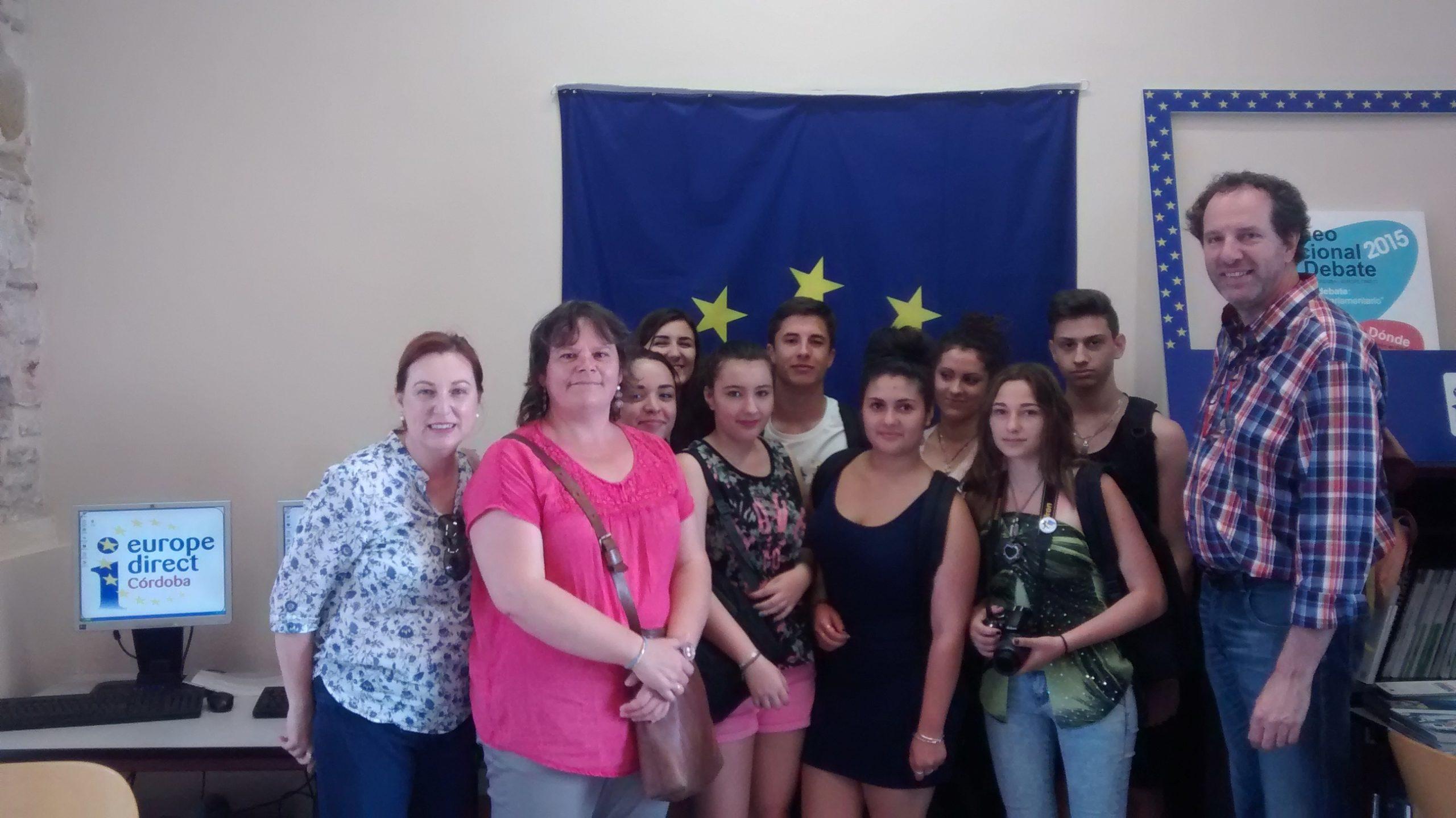 Día De Europa 2015, lunes 11 de mayo  nos visitaron alumnos del IES Philippe Lamour de Nimes (Francia).