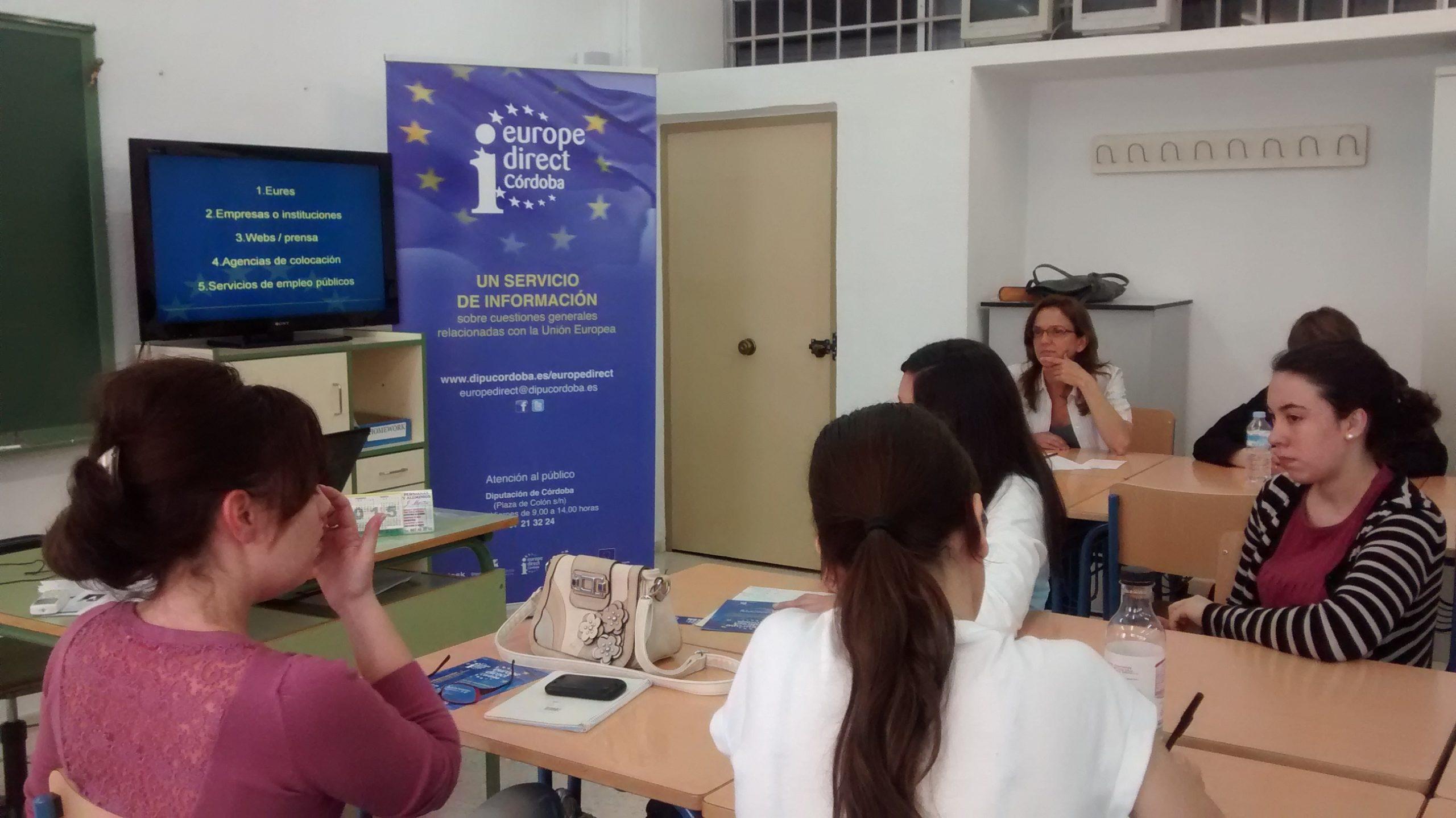 Día de Europa 2015 en la Escuela Oficial de Idiomas de Córdoba, 5 de mayo. Sesión informativa.