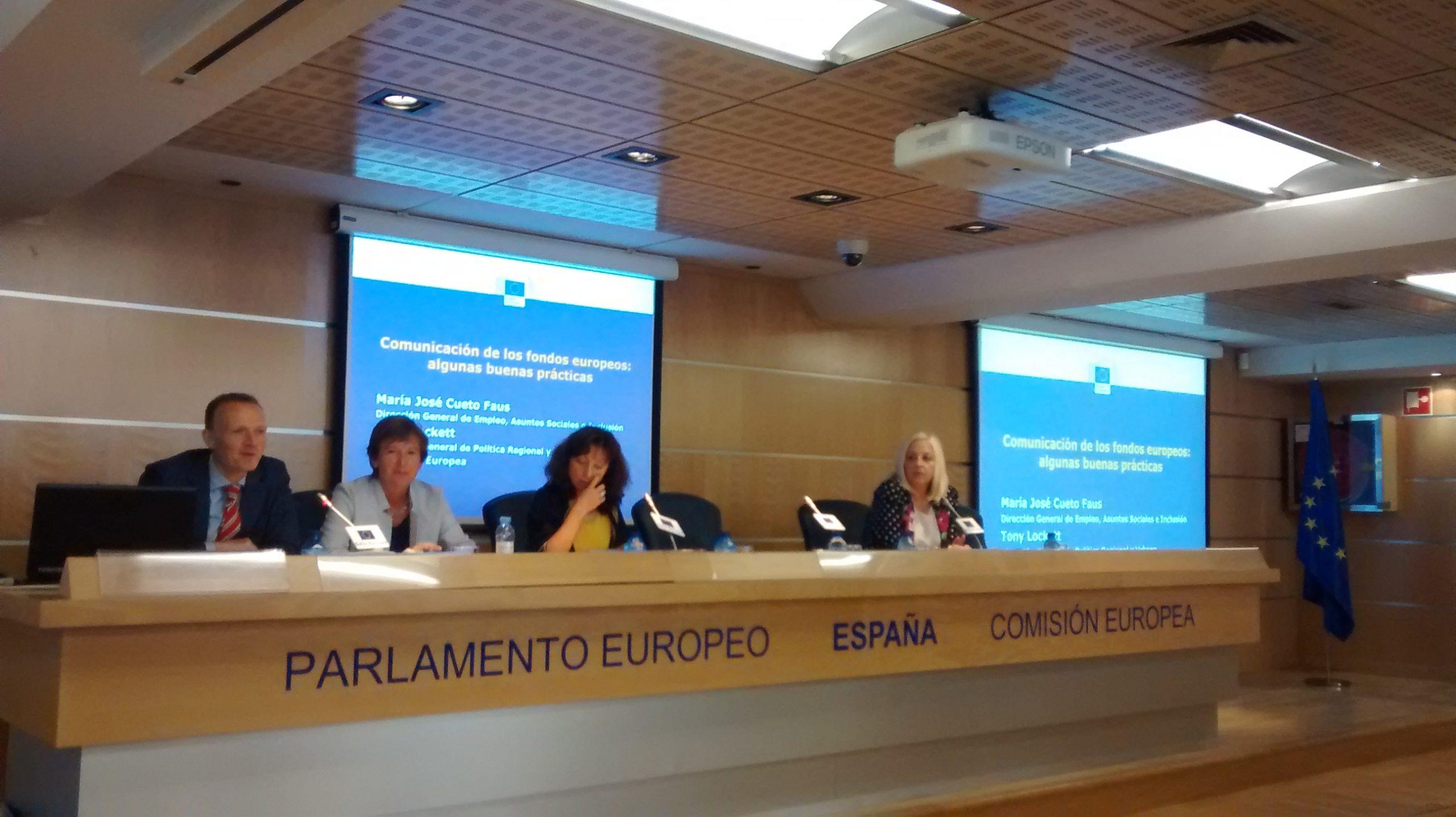 """Seminario """"Una comunicación eficaz de los fondos de las política europea de cohesión en España""""."""