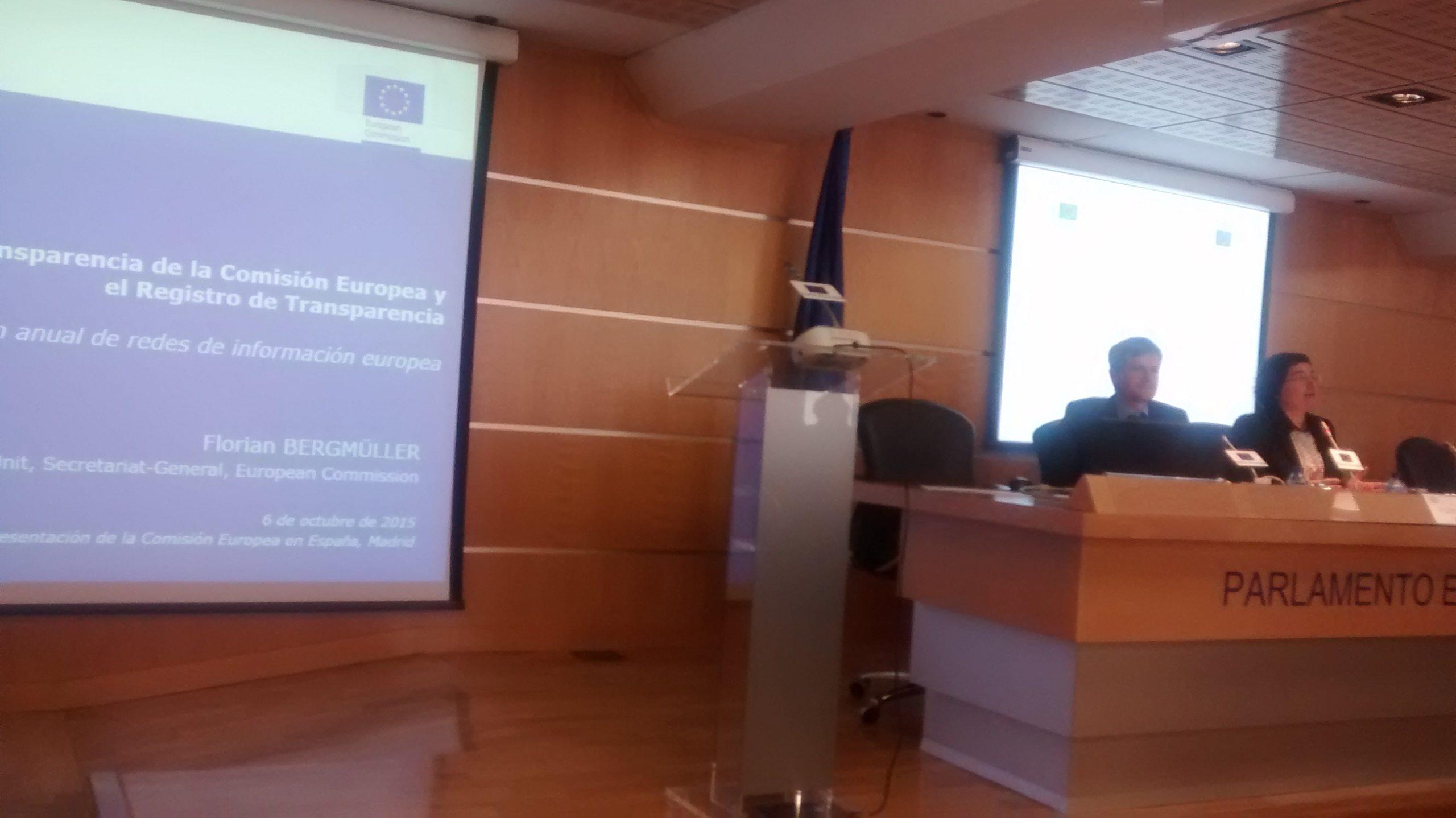 Reunión Anual de Redes Europe Direct y Centros de Documentación Europea, Madrid, octubre 2015.