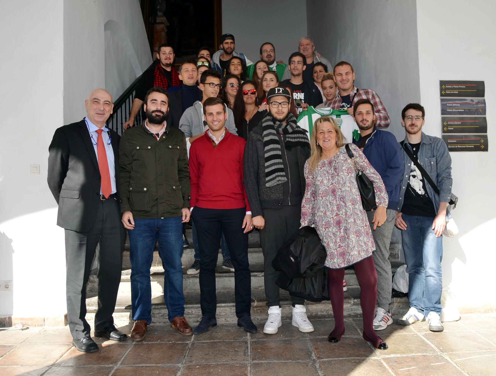 Visita intercambio Erasmus Plus, Fundación Cordoba CF.4 de noviembre 2015.