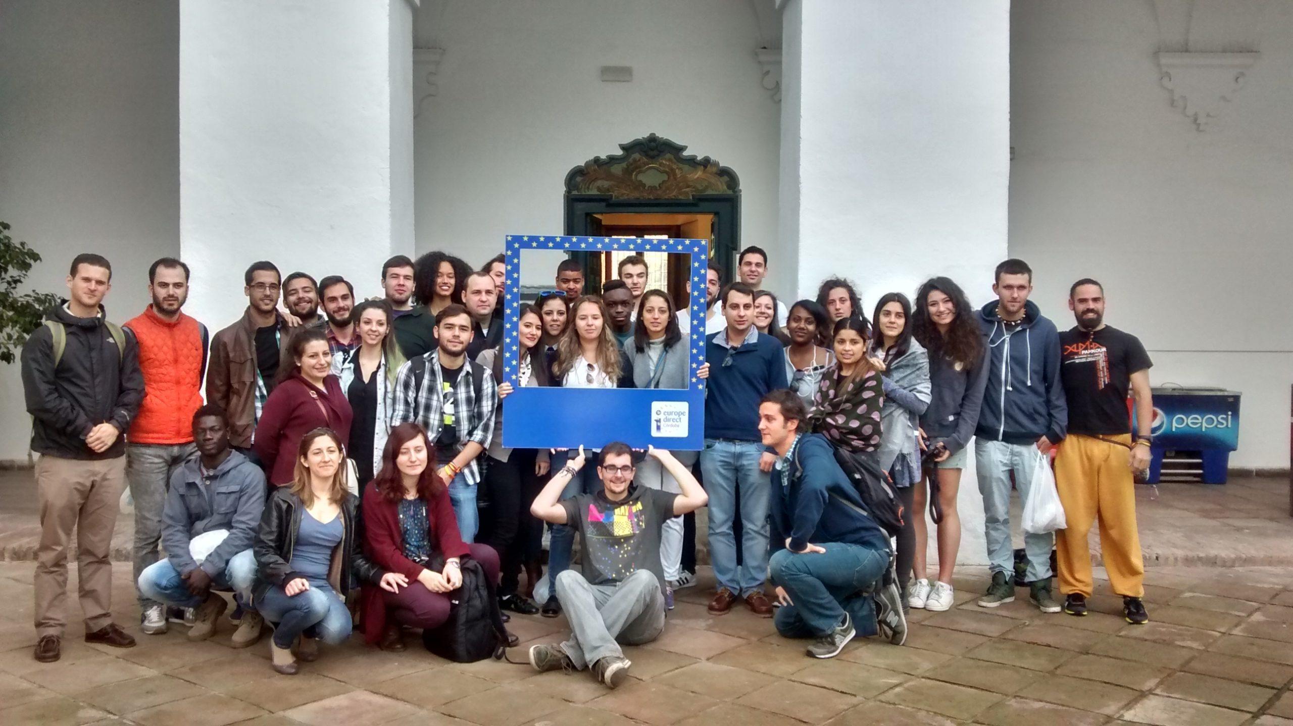Visita Mesa Local de Puente Genil, intercambio Erasmus Plus, 16 noviembre 2015.