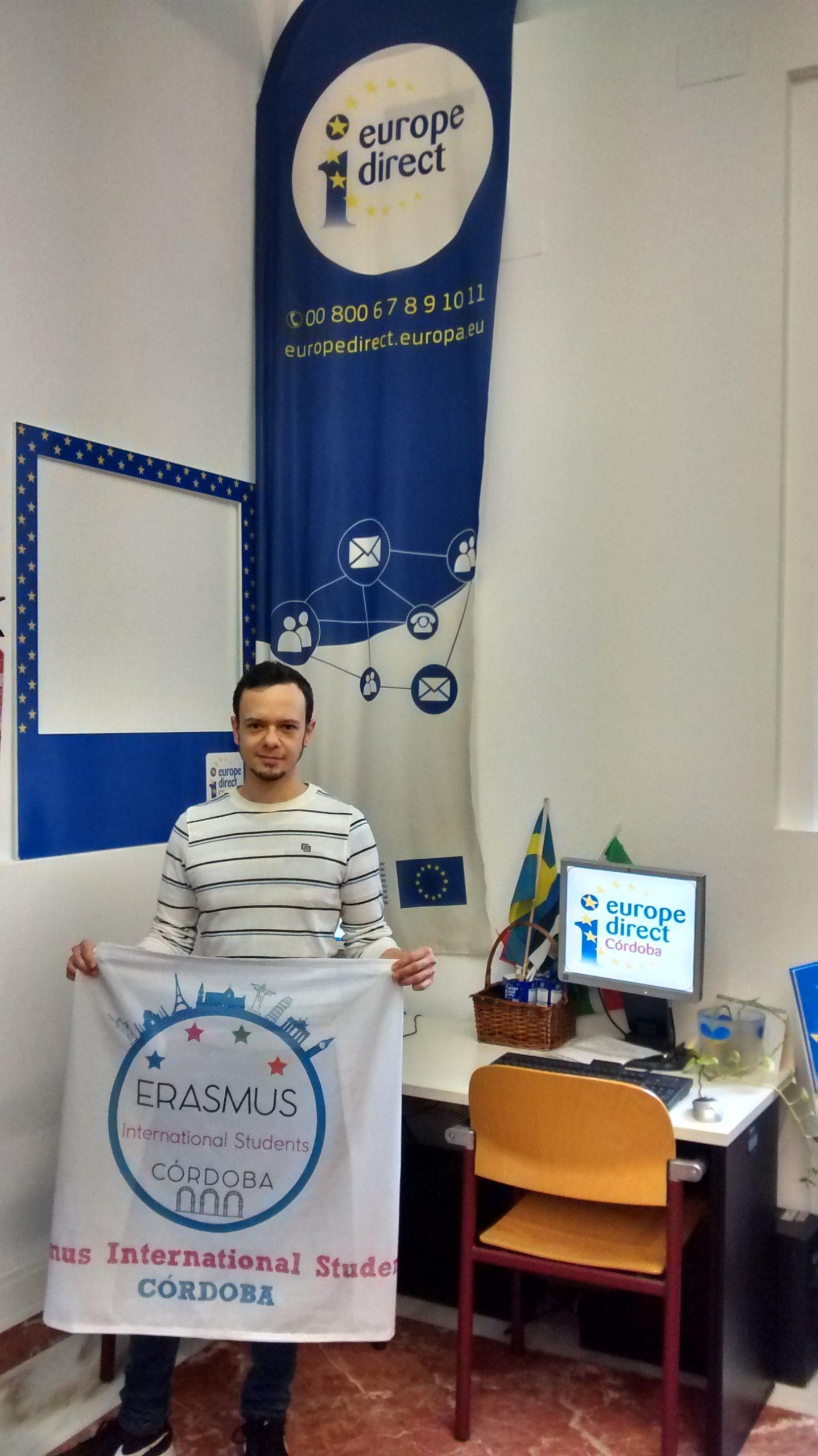 Reunión con la Asociación Erasmus International Students Córdoba, 19 enero de 2016.