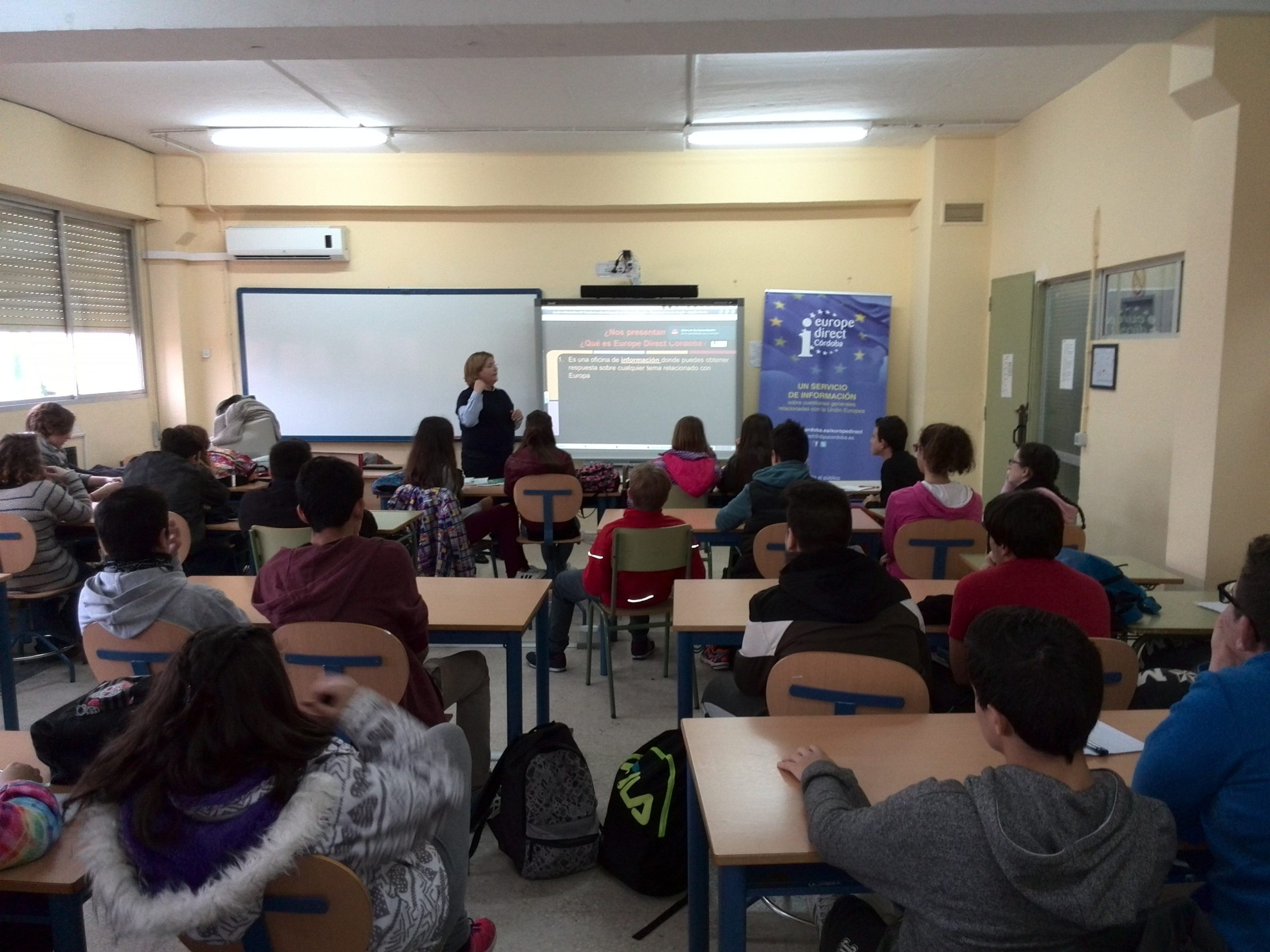 Sesiones informativas a alumnos del IES Trasierra, 21 de noviembre de 2016.