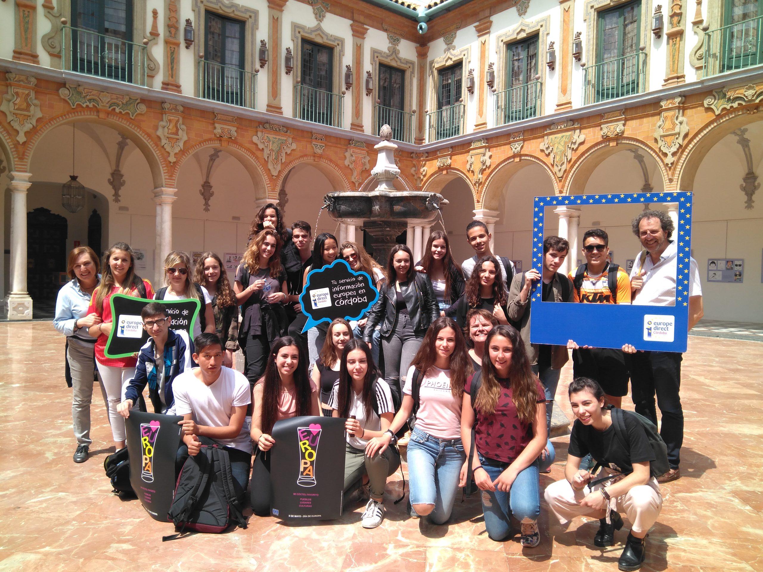 Visita alumnos intercambio IES El Tablero, 27 de abril de 2017.