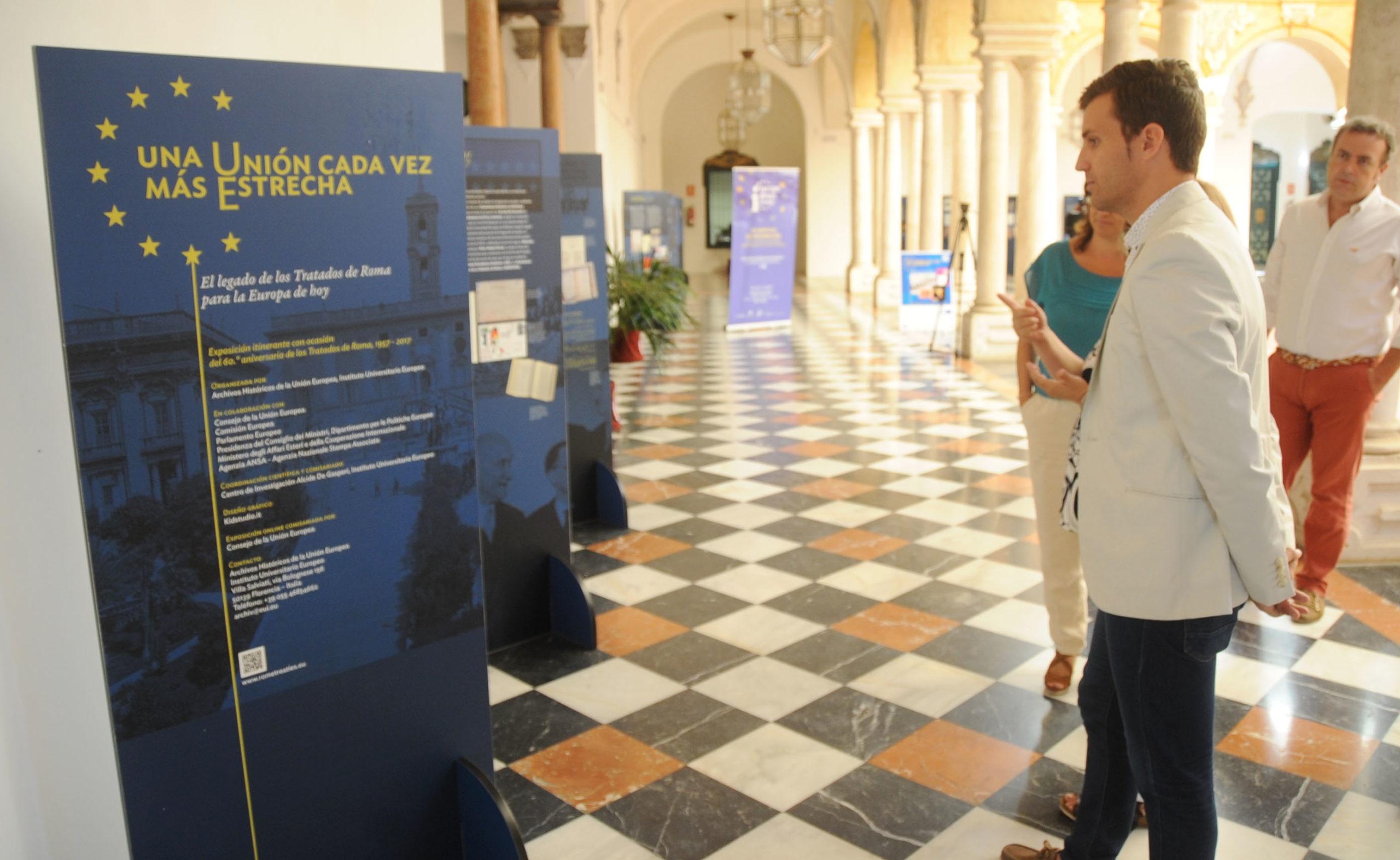 La exposición sobre el 60 Aniversario de los Tratados de Roma.
