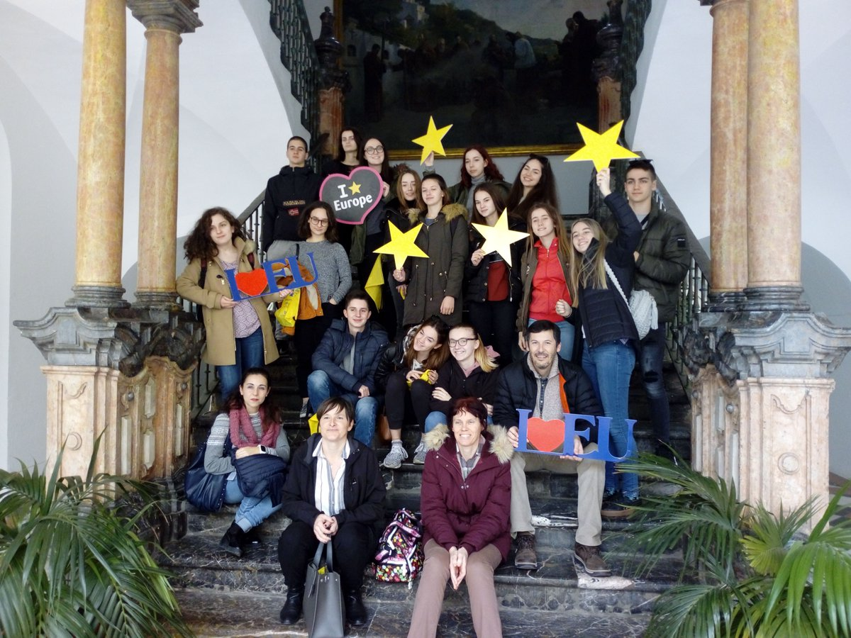 Grupo de alumnos IES Trasierra y alumnos/as de Croacia 11 febrero 2019