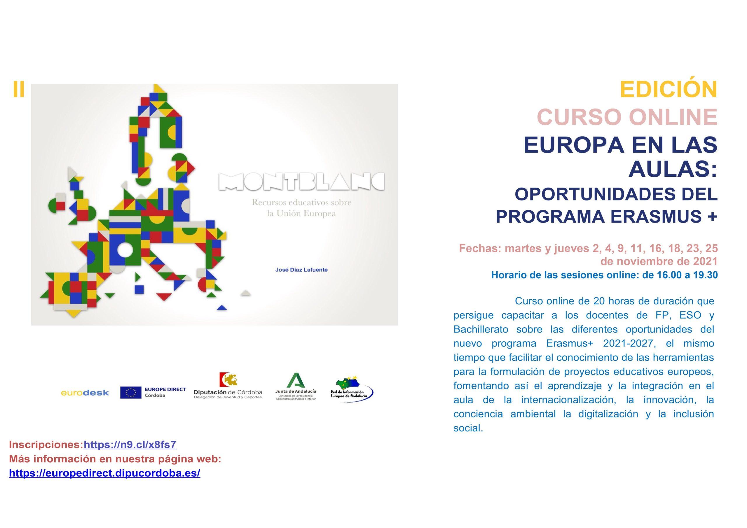 """Curso online """"Europa en las Aulas"""", Segunda Edición."""